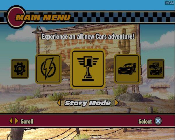 بازی Disney-Pixar Cars برای PS2